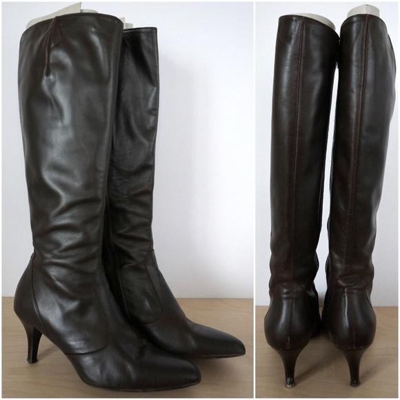 9e161299f4c J CREW Rivington Knee High Kitten Leather Boots